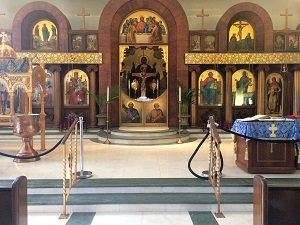 Picture of Greek Orthodox Church Interior at the Greek Festival