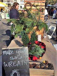 Picture of wreath making booth at Beatnik Studios Handmade Holidays