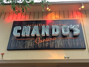 Picure of Chando's Cantina Signage