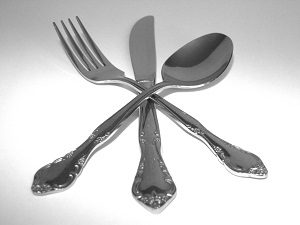 Photo of dining utensils to symbolize The Great Sacramento Vegan Burger Battle