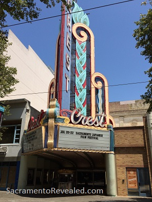 Photo of the Crest Theatre Marquee