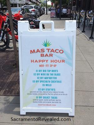 Photo of Mas Taco Bar Signage