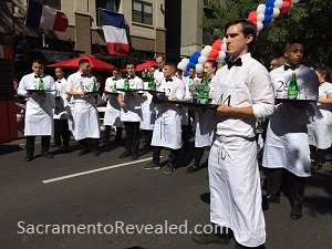 Photo of Contenders in the Sacramento Bastille Day Waiters' Race