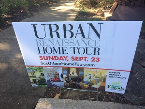 Photo of Urban Renaissance Home Tour Signage