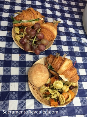 Photo of Sacramento Farm-to-Fork Festival Golden 1 provided lunch