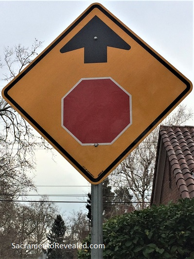 Photo of Stop Sign Ahead Sign - Dangerous by Design
