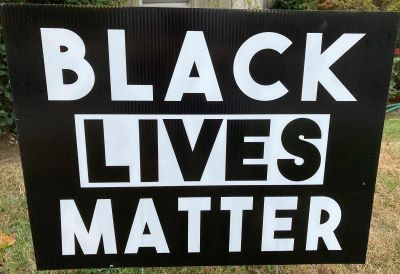 Photo of Black Lives Matter Sign - 2020 in Sacramento
