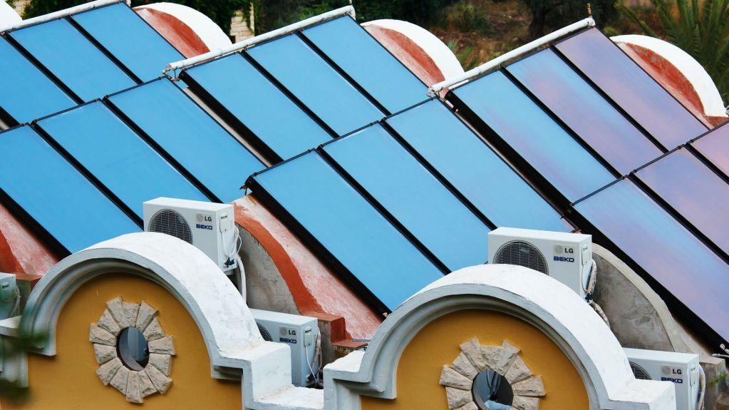 solar collectors heating pools