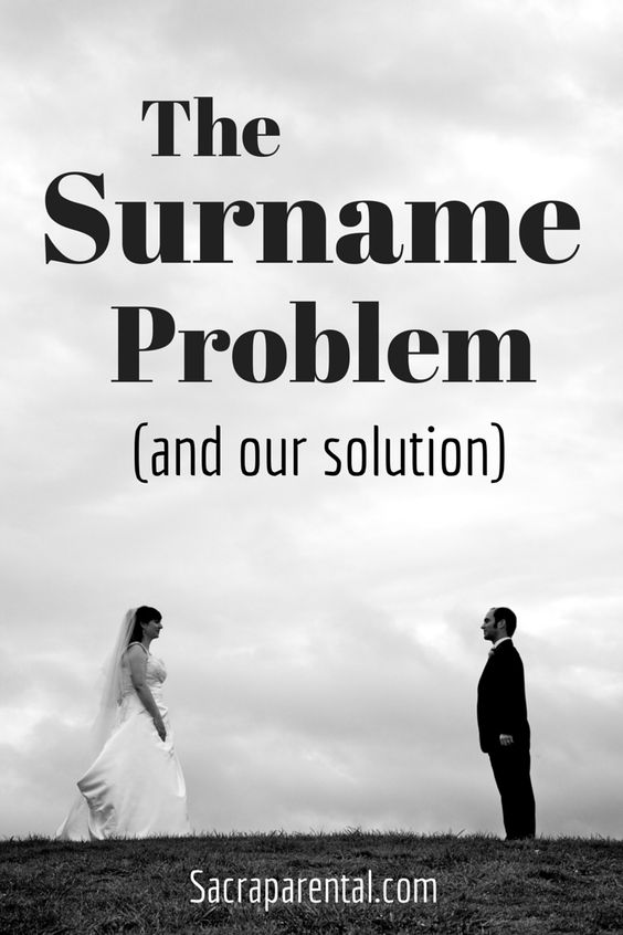 The Surname Problem (and our solution)