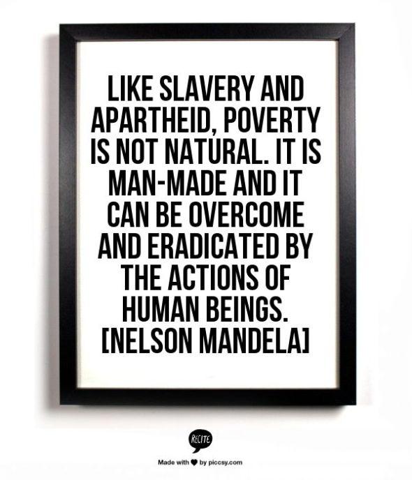 Ideas for tackling child poverty | Sacraparental.com | Nelson Mandela