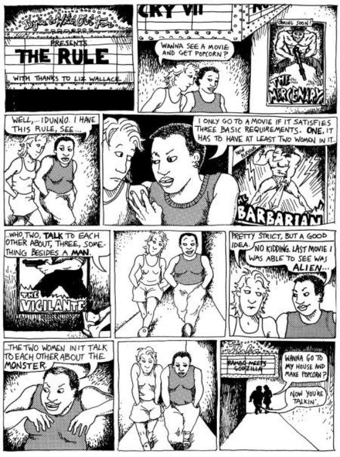 Dykes to Watch Out For, Alison Bechdel, origin of the Bechdel Test