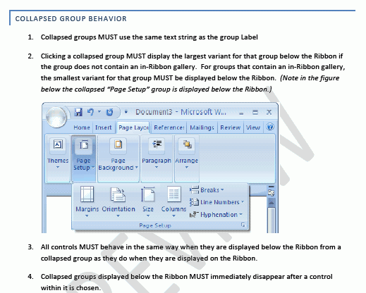 Office 2007 UI guidelines draft
