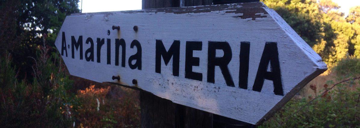 Sacré Cap Corse - Panneau à Meria