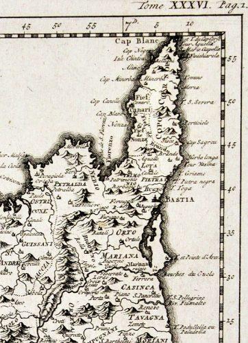 1750-Carte imprimée à Paris.
