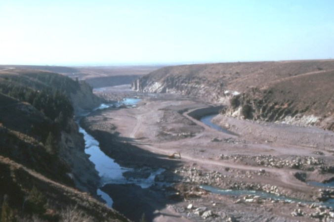 Figure 41. View of the canyon below the dam taken in 1977.