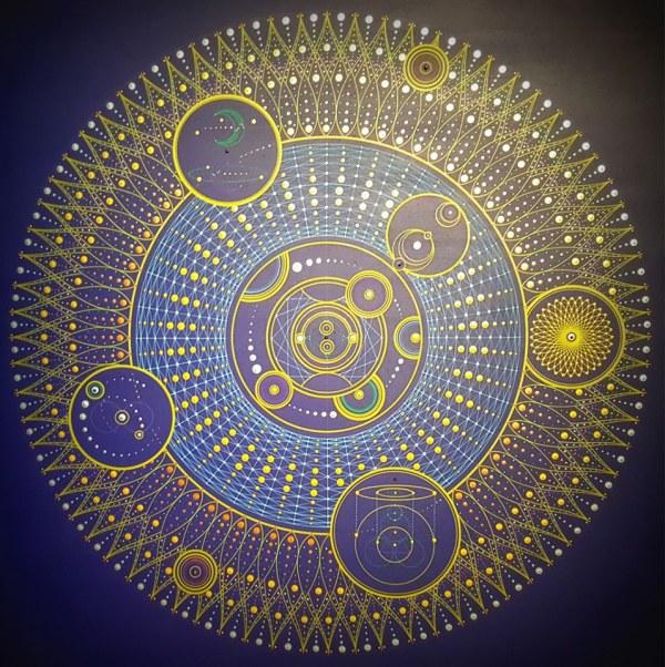 GeoCartesian an original painting by Mark Golding Sacred Geometry Mandalas