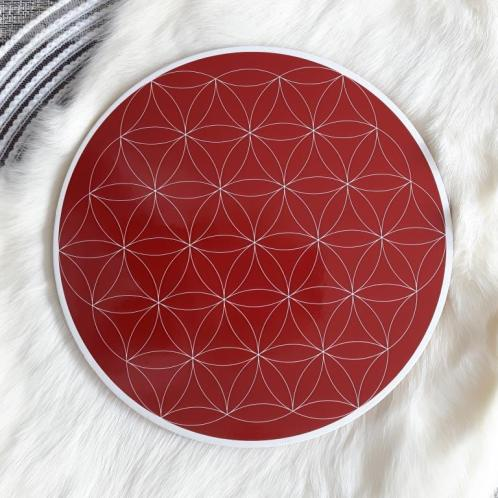 Root Chakra Flower of Life Crystal Grid
