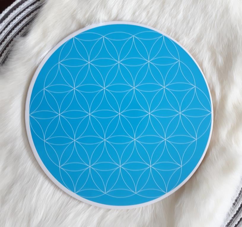 Throat Chakra Flower of life Crystal Grid