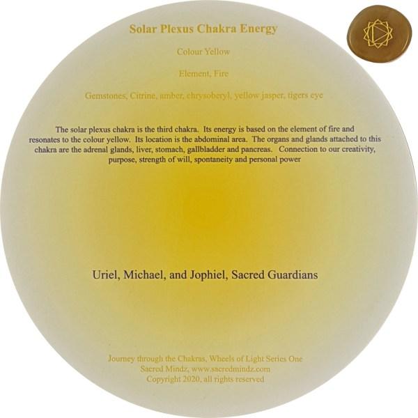 Flower of Life Solar Plexus Chakra Crystal Grid