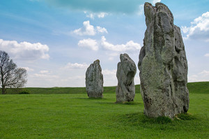 Standing Stones at Avebury in England