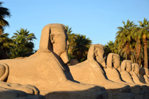 Avenue of Sphinxes at Luxor Temple in Egypt