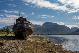 Shipwrech at Fort William in Scotland - Scotland sacred sites tour | Sacred Mystical Journeys