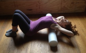 Foam Roller Thoracic Extension / Chest Opener / Backbend Enhancer Exercise