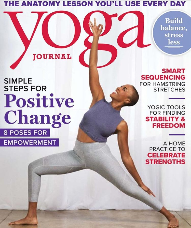 Yoga journal April 2018 cover |
