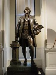 Statue of George Washington in the Washinton Masonic Memorial, Washington, DC