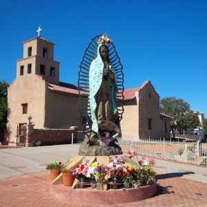 Virgin of Guadalupe - Sanctuario de Guadalupe Santa Fe, New Mexico Photo K. Stanley