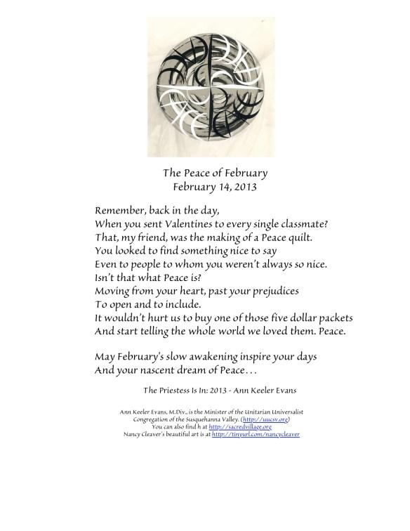 PeaceFebruary14