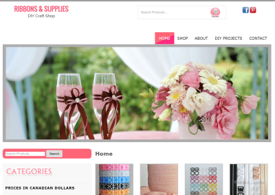 Ribbons -n- Supplies Ecommerce Site