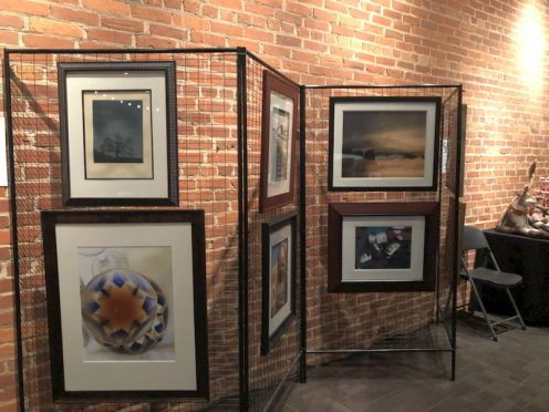 Art on display provided by SAC's Gallery.