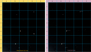 sky scan and predicted sky view diagram