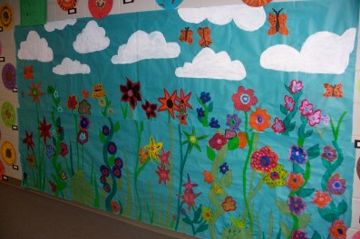 Miss Haine's flower mural