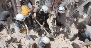 انتشال ضحايا القصف - الدفاع المدني - اريحا2