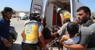 قتلى وجرحى بقصف للنظام على بلدتي التح وتحتايا في ريف إدلب - الدفاع المدني