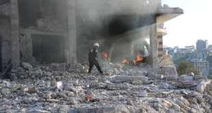 دمار نتيجة الغارات على الجانودية - الدفاع المدني