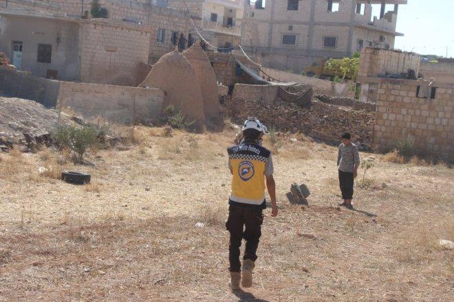 سقوط صاروخ أطلقه النظام على بلدة التح - الدفاع المدني