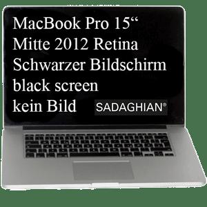 MacBook Pro wird schwarz