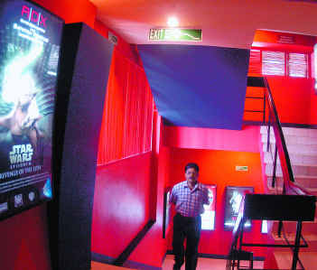 Stair case at sathyam