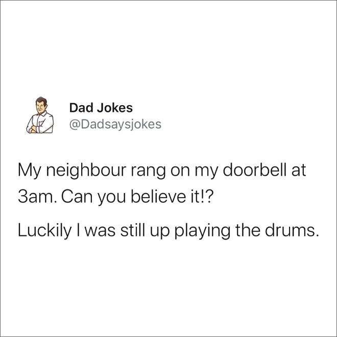 Brilliant dad joke.