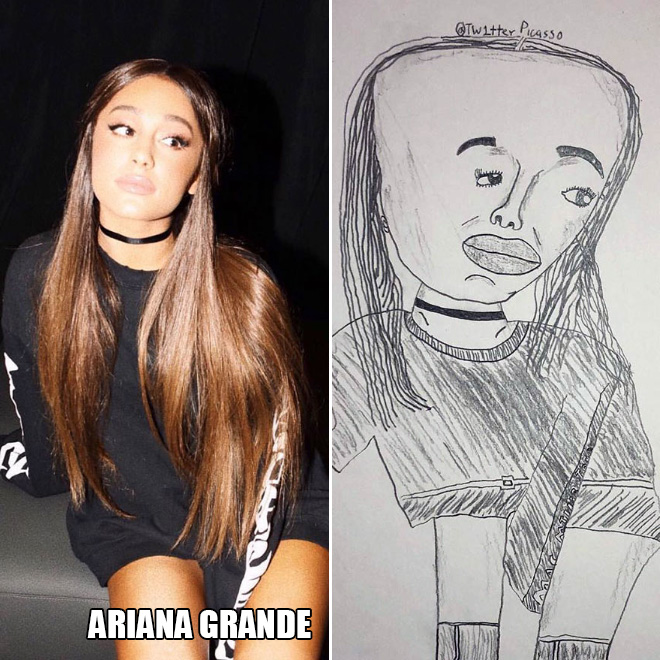 Celebrity fanart by Twitter Picasso.