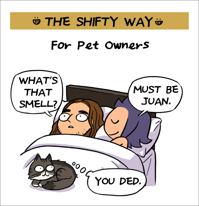Farting in bed etiquette.