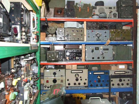 A small part of the equipment on display at the British Wireless Museum.