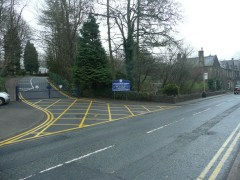 MAIN ROAD: The school is currently on the main road through Uppermill
