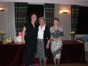 GOLF LADIES: Winner Kay Orme, prize donor Eileen Milnes and Lady Captain Pauline Richardson
