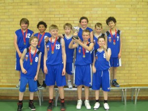 WINNERS: The year seven basketball team
