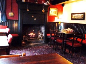 COSY: Customers can roast their chestnuts by the fire while they have a pint