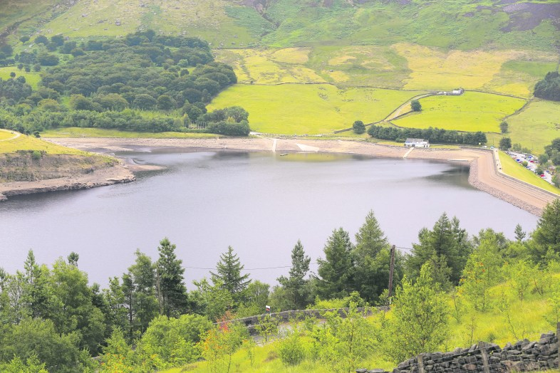 The water levels at Dovestones before the August hosepipe ban Pic Carl Royle